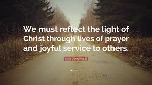 Reflecting The Light Of Christ