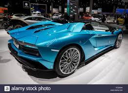 2018 lamborghini aventador blue. unique aventador new 2018 lamborghini aventador s roadster sports car presented at the  frankfurt iaa motor show 2017 credit jlbvdwolfalamy live news throughout lamborghini aventador blue a