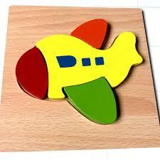 Đồ Chơi lắp ghép Gỗ Dành Cho Bé 2 Tuổi Trở Lên PuzzleToys - Xếp hình Phi cơ  - rete0028-SHOP-0201, Giá tháng 10/2020
