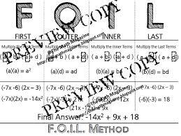 The Math Magazine: FOIL Method Multiply Binomials Foldable ...