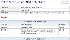 Meeting Agenda Templates Dotxes