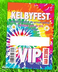 Festival Themed Childrens Birthday Party Invitations Wedfest