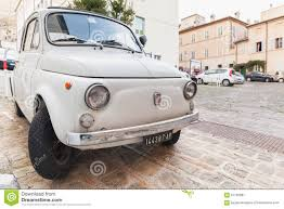 Old White Fiat 500 L City Car Editorial Photo - Image: 67195881