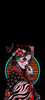 Japanese Geisha Art - 1242x2688 ...
