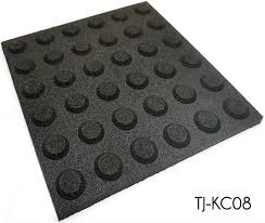 black non slip blind road rubber floor tiles