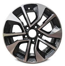 Honda Civic Wheel Size Chart Road Ready Car Wheel For 2013 2015 Honda Civic 16 Inch 5 Lug Gray Aluminum Rim Fits R16 Tire Exact Oem Replacement Full Size Spar