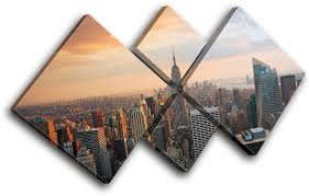 multi color on new york city skyline canvas wall art with new york skyline usa city multi canvas wall art picture print va ebay