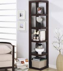 solid wood skinny bookshelf narrow shelving unit bookcases corner bookcase furniture of america kiki tier ladder display piece designs my web value