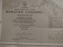 Us Navy Nautical Charts Details About Antique Vintage Us Navy Nautical Chart Aeronautical Map Babuyan Chan Philippines