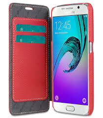 melkco premium leather case for samsung galaxy s7 face cover book type red lc