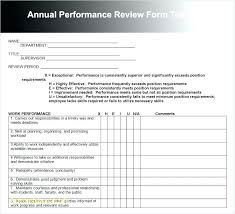 Performance Review Format | Cvfree.pro