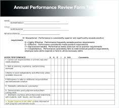 Performance Review Format | Cvfree.pro