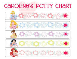 Disney Princess Behavior Chart Potty Training Printable Charts And Checklists Printable