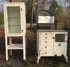 Antique Metal Dental Cabinet Vintage Metal Dental Cabinet Shows Nice Wear In Keeping With The