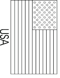 American Flag Color Sheets Flag Coloring Page Blank Flag To Color