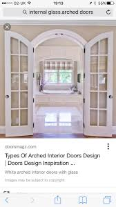 Featured, Breathtaking Custom Interior Arched French Doors With White  Bathtub And Loft Window Covering Traditional Look Of Arched French Doors  Interior ...