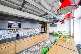 office kitchen. Opera Office Kitchen Bright Colors
