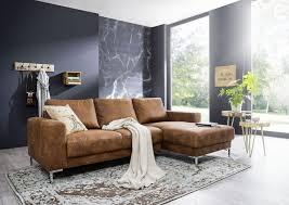 Sofa Wohnlandschaft London Antik Optik Farbe Cognac