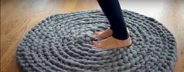chunky circular rug