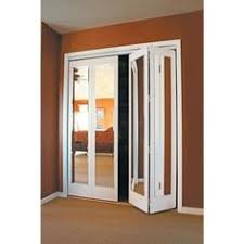 bi fold mirror closet door. Mir-Mel Mirror Solid Core Primed MDF Interior Closet Bi-fold Door With White Trim Bi Fold