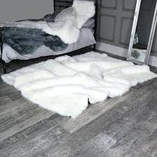 large white fur rug extra faux x giant