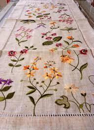 wild flowers linen table runner 16 x 54