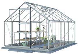 simplicity sun plain aluminium greenhouse starter package 8ft3 wide 2530mm x 12ft4 long 3770mm