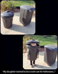 diy trash can costume for kids hahaha too funny you could scare so many