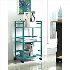 rolling office cart. Office Carts Cart On Wheels 3 Shelf Metal Rolling Utility In Teal Home And .