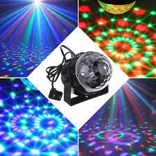 mini rgb led wedding party disco club dj light crystal magic ball effect stage lighting for xmas 110 240v us plugeu uk au plug adapter size us