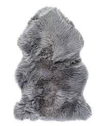 gray new zealand sheepskin rug