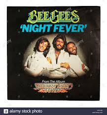 A vinyl single record by the BEE GEES called Night Fever from Stock Photo -  Alamy