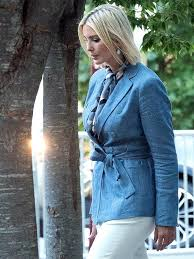 Ivanka Trump Blue Attractive Coat