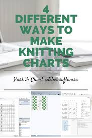 4 Different Ways To Make Knitting Charts Part 3 Chart