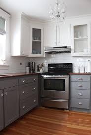 Two Tone Kitchen Cabinets Kitchen Marvelous Illuminated Two Tone Kitchen Cabinet And Island