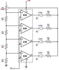 electronic projects simple led voltmeter circuit diagram
