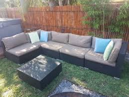 wicker rattan modular outdoor lounge setting