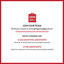 Join Our Team Email Your Resume Cv To Miniso Philippines
