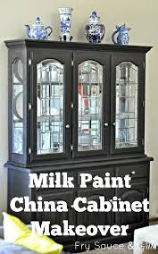 repaint china cabinet miss mustard seed milk paint china cabinet makeover chalk painted china cabinets for