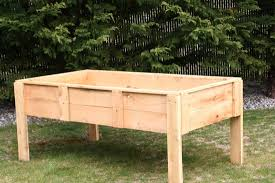 How To Build A Raised Garden Bed With Legs Beds On  Modern Diy Pinterest