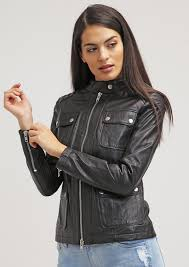 homewomenssophia black women biker motorcycle leather jacket 20 off prev