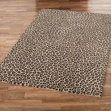 animal print area rugs black ivory 5 ft 2 in x 7 leopard
