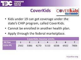 Health Insurance Enrollment For Tennessees Children Ppt