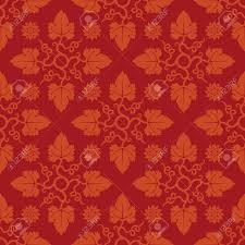 Bloemen Rood Naadloos Patroon Decoratie Voor Behang Stoffen