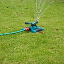 garden watering sprinkler irrigation system 360 degree fully circle rotating nozzle circular sprayer