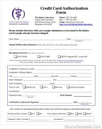 credit card payment form word credit card authorization form