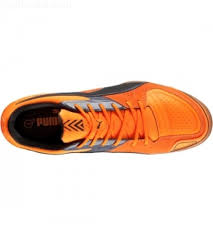 puma indoor soccer shoes for men. puma men\u0027s invicto sala indoor soccer shoes - orange/black wczcmar puma for men
