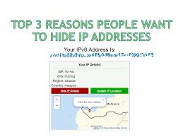 Top 3 Reasons People Want To Hide Ip Addresses Bolehvpn Blog