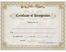 free recognition certificates printable certificate of recognition awards certificates