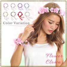 a flower crown bangle set accessories flower crown party wedding ceremony second party concert wedding fez sea sea bathing photogenic river is good